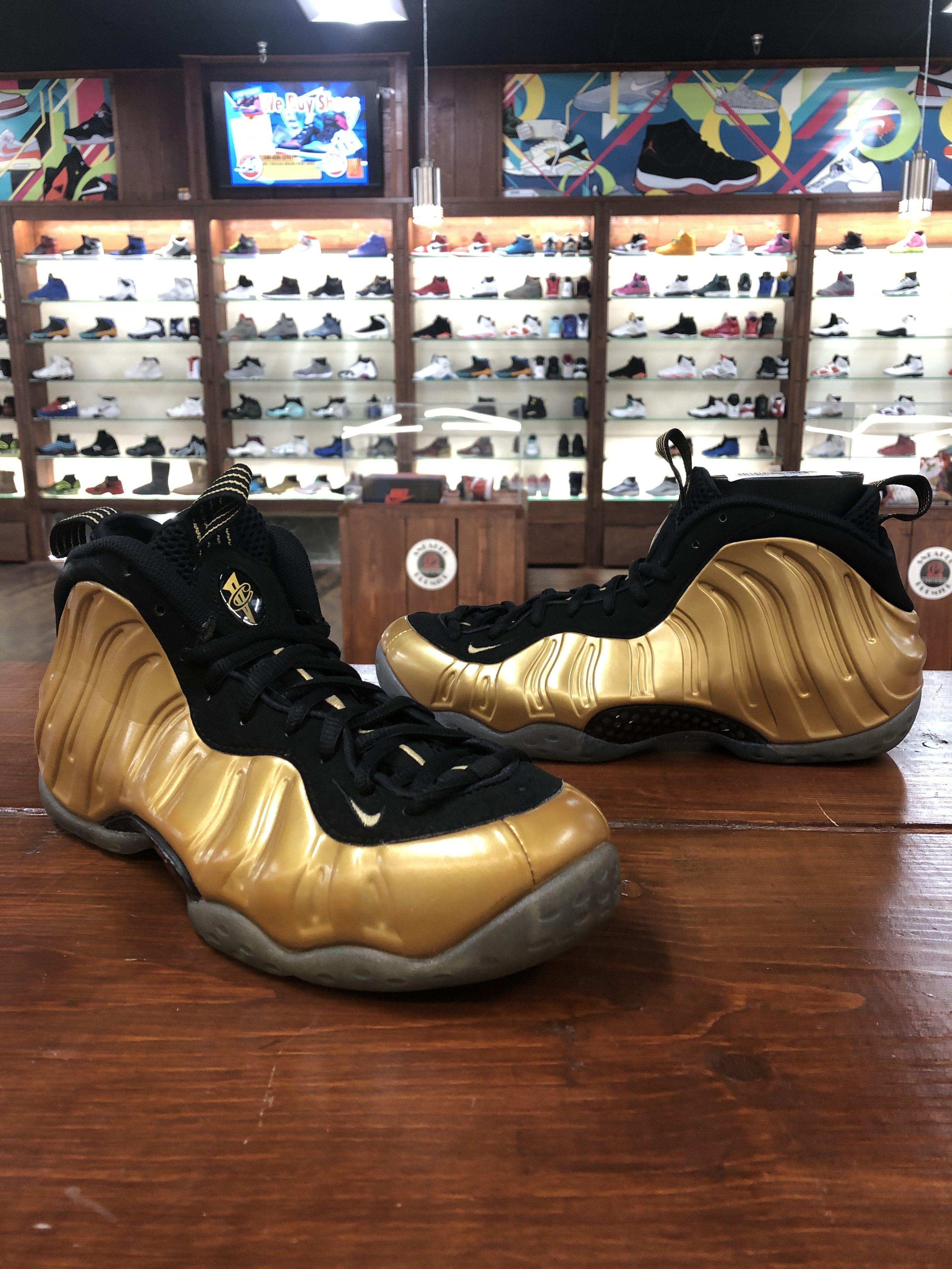 Nike Foamposite Gold Size 10 $140